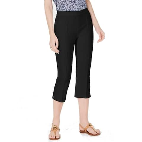 MICHAEL Michael Kors Womens Pants Black Size 2 Dress Capri Stretch