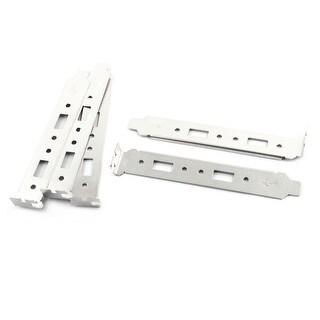 Unique BargainsDual USB Port Long Profile PCI Bracket Plate 5 PCS for Mini Case