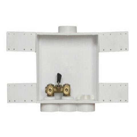 Oatey 38568 Washing Machine Outlet Box, White