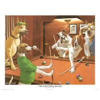 ''The Scratching Beagle'' by Arthur Sarnoff Humor Art Print (16 x 20 in.)