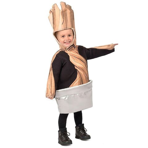 Guardians Of The Galaxy Potted Groot Toddler Costume - Brown