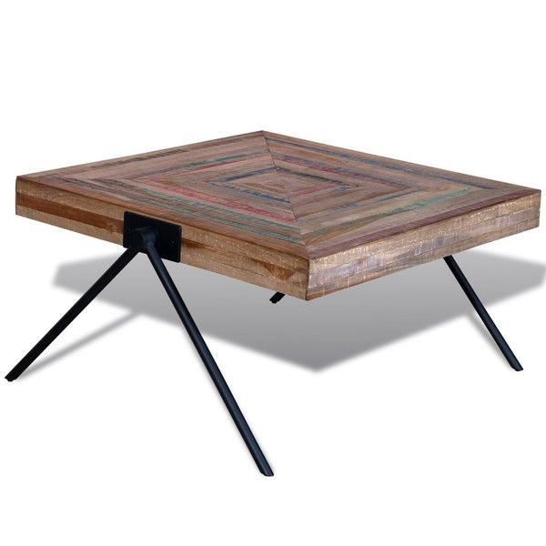 Vidaxl Coffee Table Teak Resin: Shop VidaXL Coffee Table With V-shaped Legs Reclaimed Teak