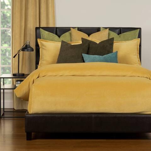 Mixology Padma Velvet 9 Piece Bed Cap Comforter Set