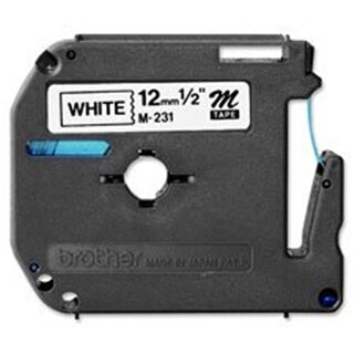 Brother P-Touch Nonlaminated M Series Tape Cartridge - White