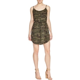Sanctuary Womens Casual Dress Camouflauge Blouson