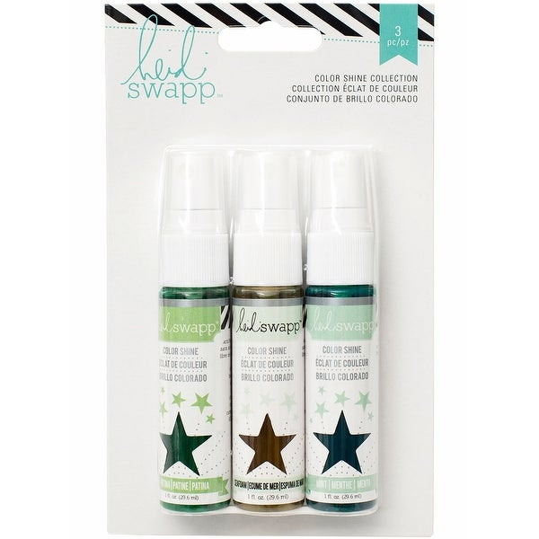 Heidi Swapp Color Shine Spritz 1oz 3/Pkg-Overcasts