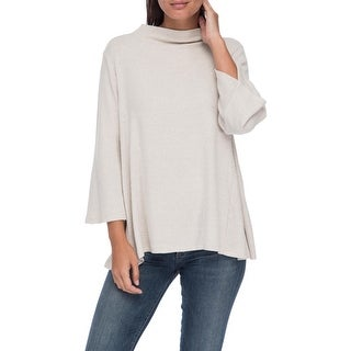 Bobeau Mollie Mock Neck Cozy Tee