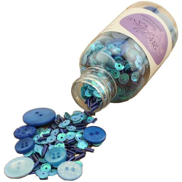 28 Lilac Lane Embellishment Bottle Kit-Winter Blues