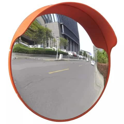 """vidaXL Convex Traffic Mirror PC Plastic Orange 18"""" Outdoor"""