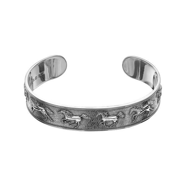 Kabana Horse Bracelet in Sterling Silver - White