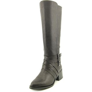 Mia Noralee Women  Pointed Toe Synthetic Black Knee High Boot