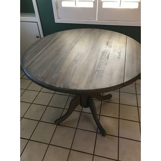 Unfinished Round 36 Inch Dual Drop Leaf Dining Table
