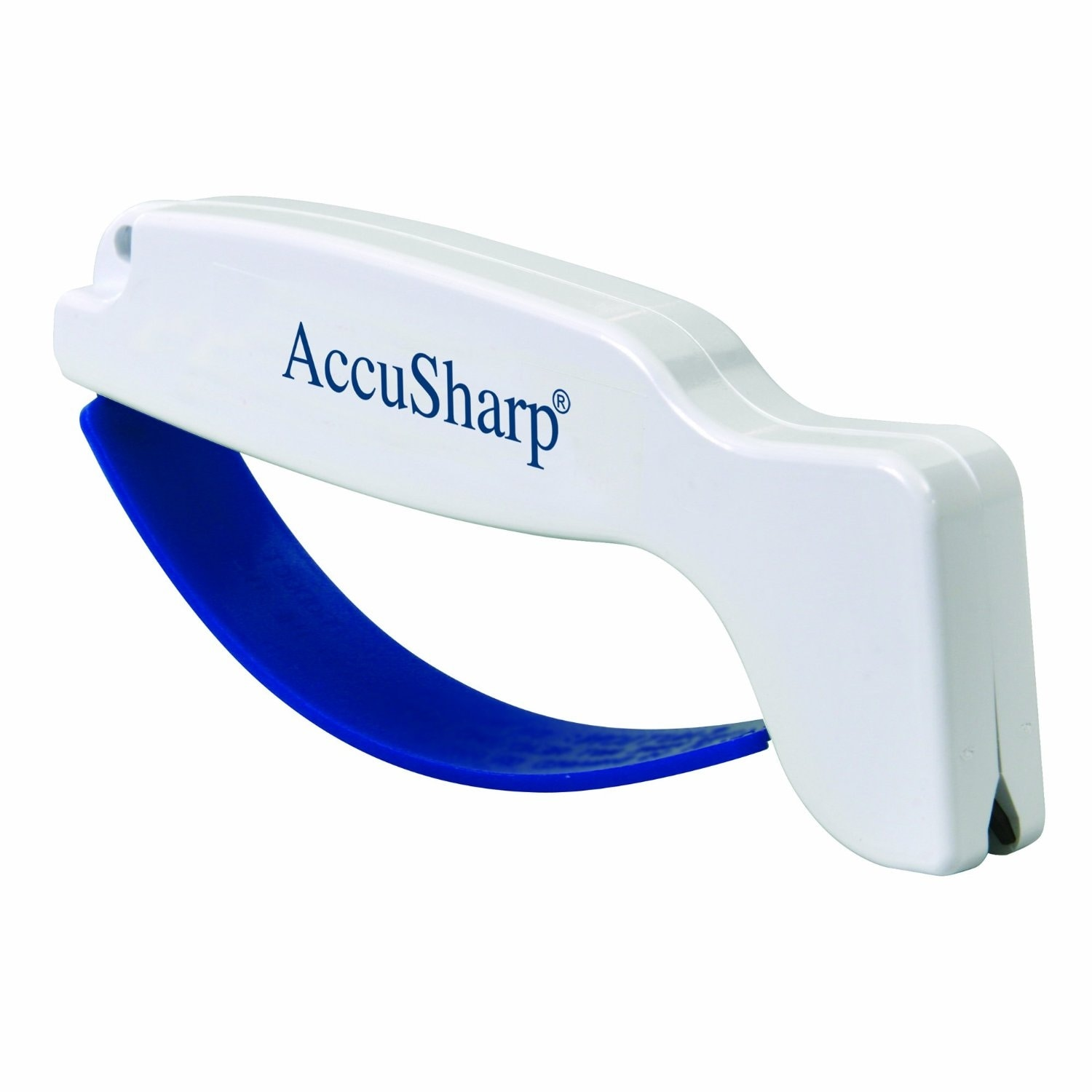 AccuSharp 001 Knife and Tool Sharpener 001 White with Full Length Finger Guard thumbnail