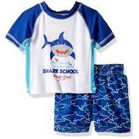 iXtreme Boys 12-24 Months Shark Rash Guard Set - Blue