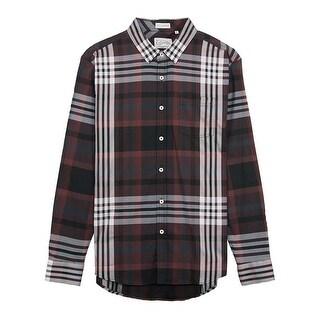 7 Diamonds Harrington Shirt in Maroon