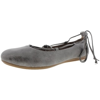 Easy Spirit Womens Ginada Ballet Flats Distressed Ankle Strap