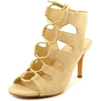 Sole Society Rosalie Women  Peep-Toe Suede Tan Heels