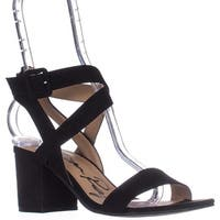 AR35 Caelie Ankle Strap Sandals, Black