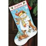 "Winter Friends Stocking (14 Count) -Dimensions Counted Cross Stitch Kit 16"" Long"