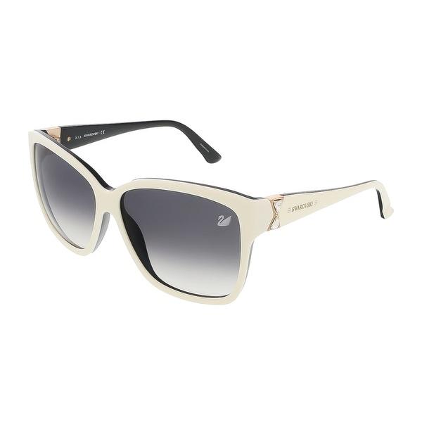 Swarovski SK0057/S 25B Shiny Ivory/Black Square sunglasses - 60-13-135