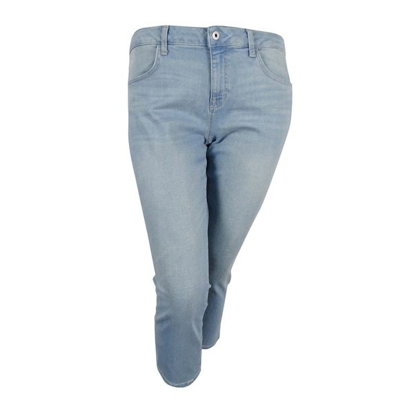 ece4bc0c Shop Tommy Hilfiger Women's Light Wash Straight-Leg Crop Jeans (Light Wash,  12) - Light Wash - 12 - Free Shipping On Orders Over $45 - Overstock.com -  ...