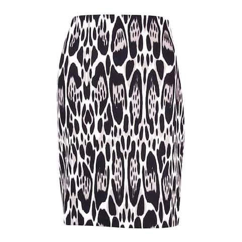 INC International Concepts Women's Animal Print Skirt - Oblong Leopard