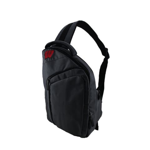 University of Wisconsin Badgers Game Changer Gray Sling Backpack - 17 X 11 X 4 inches