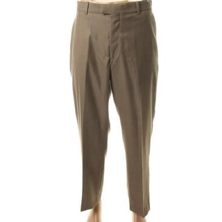 Perry Ellis Mens Non-Iron Flat Front Dress Pants - 34/30