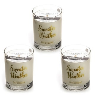 Campfire Scented Jar Candle, Hints of Smoky Pine and Cedar (3 Pack)