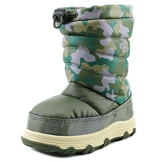 Khombu Juniper Pull On Youth Round Toe Synthetic Green Winter Boot