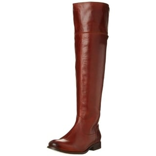 Frye Womens Melissa Leather Riding Over-The-Knee Boots