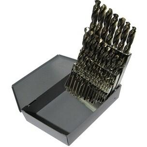 1 Pc, Drill America 1.00mm - 13.00mm Cobalt Steel Jobber Drill Bit Set, 25 Pieces (.5mm Increments), D/A4025-CO-SET