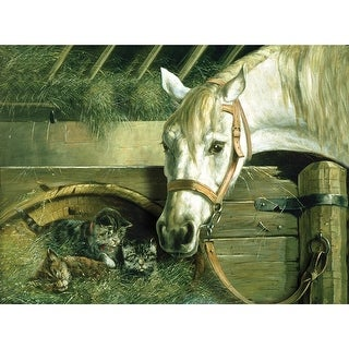 """Paint By Number Kit Artist's Collection 12""""X16""""-Horse & Kittens"""