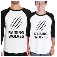 Raising Wolves Pub Father Son Matching Shirts Baseball Raglan Tee
