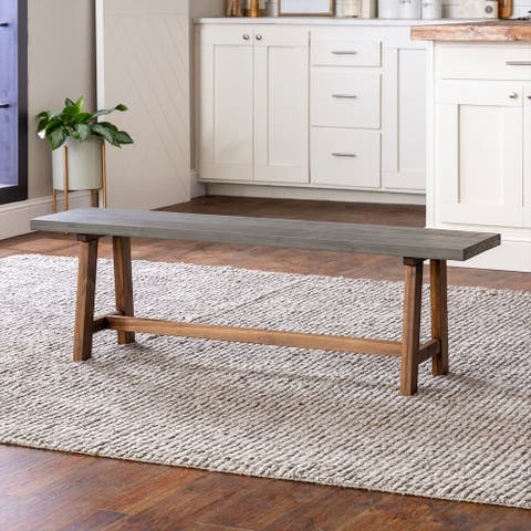 The Gray Barn 60-inch Solid Wood Trestle Dining Bench