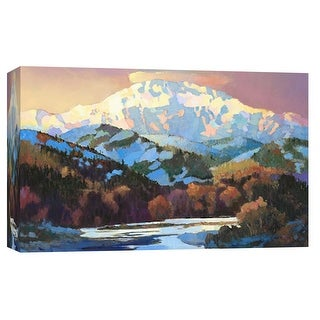 """PTM Images 9-102028  PTM Canvas Collection 8"""" x 10"""" - """"Snow in the Foothills"""" Giclee Forests and Mountains Art Print on Canvas"""