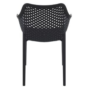 Compamia Air XL Outdoor Dining Arm Chair Set of 2 - Black