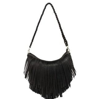 Blazin Roxx Western Handbag Womens Hobo Braided Strap Zipper N75662 - 10 x 3 x 13