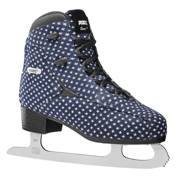 Roces Women's Wooly Fleur De Lis Ice Skate Superior Italian Navy 450694 00002