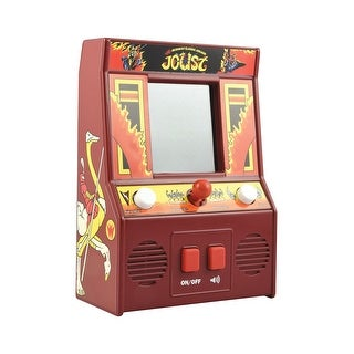 Basic Fun Miniature Joust Retro Arcade Video Game - Battery Operated - Red
