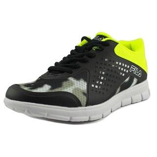 Fila Faction Youth EW Round Toe Synthetic Black Walking Shoe