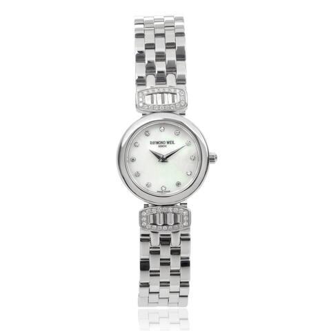 Raymond Weil Women's 5890-SLS-97081 'Chorus' Diamond Stainless Steel Watch - Silver
