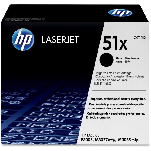 HP 51X High Yield Black Original LaserJet Toner Cartridges (Q7551X)(Single Pack)