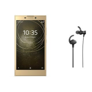 Sony Xperia L2 Unlocked Smartphone (Gold) with Headphones (Black) - Gold