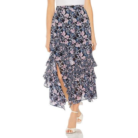Vince Camuto Womens Maxi Skirt Floral Ruffled