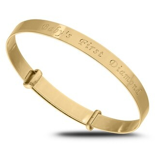 Link to Babys first Diamond Gold Bangle Bracelet for Baby Shower Similar Items in Children's Jewelry