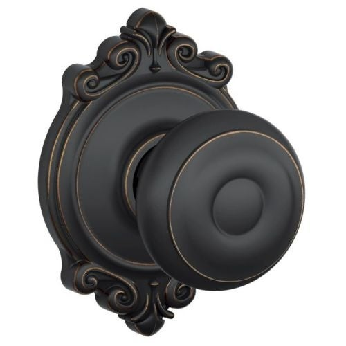 Schlage F10 GEO BRK Passage Georgian Door Knobset With The Decorative  Brookshire Rose   Free Shipping On Orders Over $45   Overstock.com    22472297