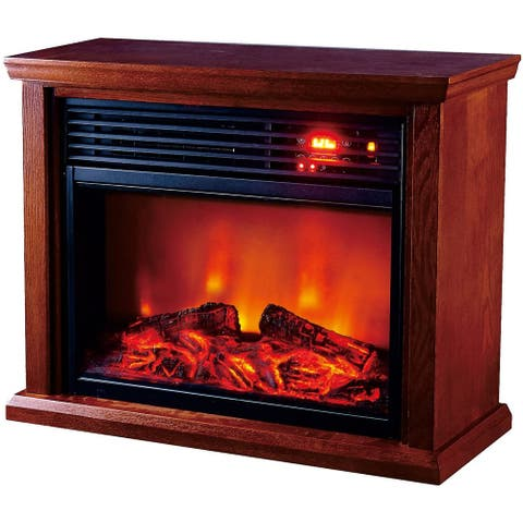Optimus Fireplace Infrared Heater With Remote, LED Display