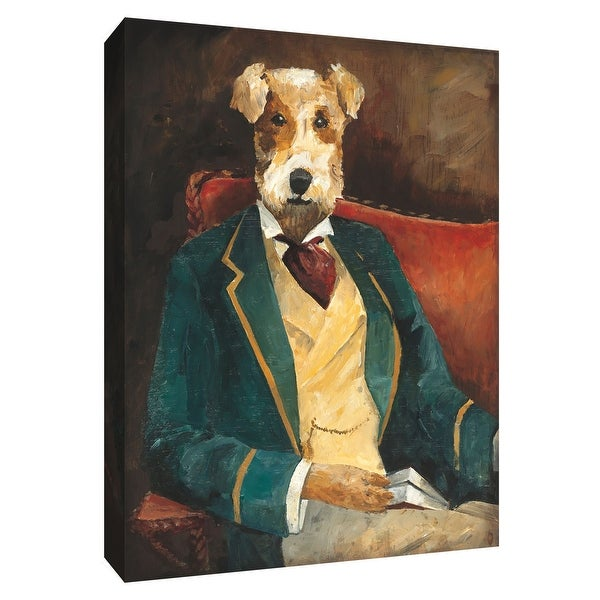 """PTM Images 9-154911 PTM Canvas Collection 10"""" x 8"""" - """"Edgar Allen Paw"""" Giclee Dogs Art Print on Canvas"""
