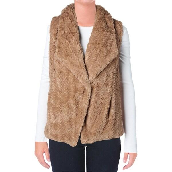 Wild Flower Womens Outerwear Vest Faux Fur Lined